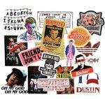 Stranger Things sticker set S1/S2 - filmspullen.nl