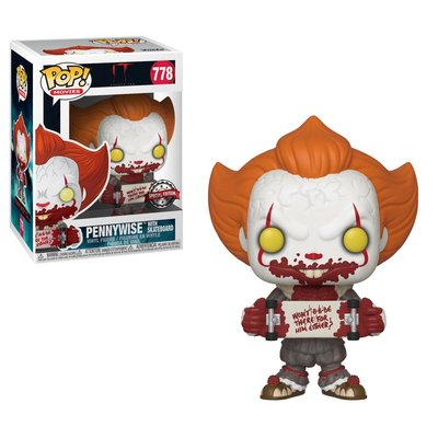 Funko Pop! IT Chapter 2: Pennywise with Skateboard [Exclusive]