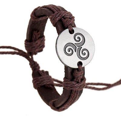 Teen Wolf bruine Triskelion armband