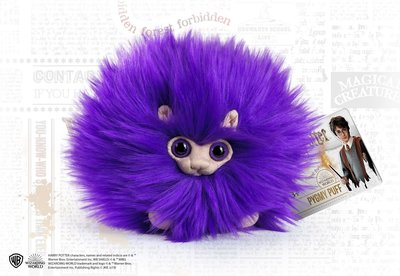 Pygmy Puff knuffel paars [The Noble Collection]