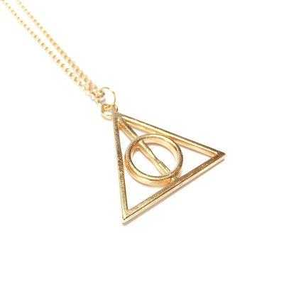 Harry Potter Deathly Hallows ketting goud
