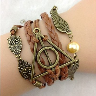 Harry Potter Deathly Hallows armband (bruin)