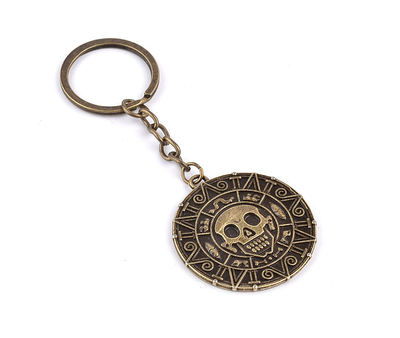 Pirates of the Caribbean Aztec amulet sleutelhanger