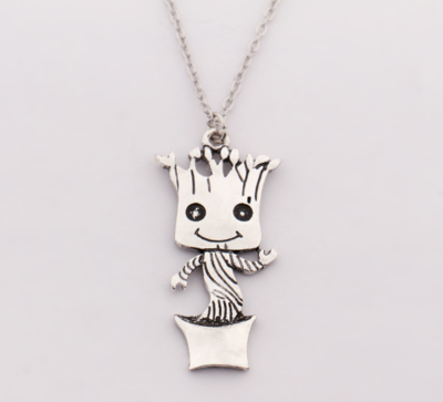 Guardians of the Galaxy: Baby Groot verzilverde ketting