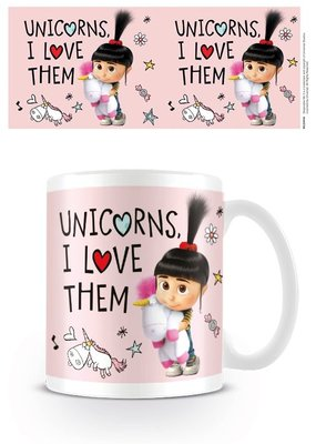 Despicable Me 3 mok Unicorns I Love Them Fluffy