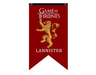 Game of Thrones vlag: Lannisters