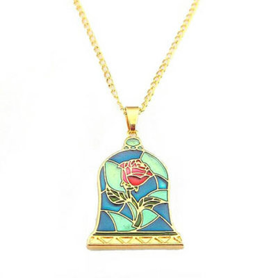Beauty and the Beast roos ketting