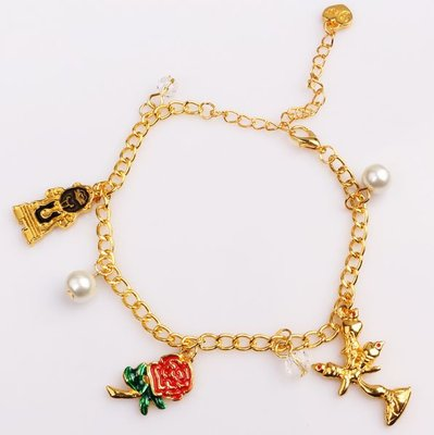 Beauty and the Beast: bedelarmband goud