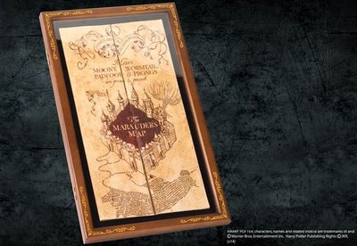 Marauders Map houten display case