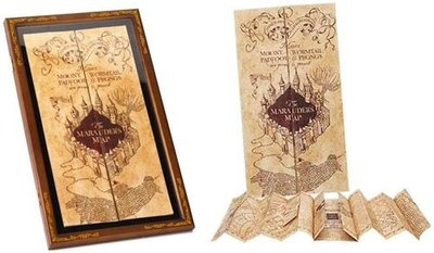 Marauders Map & Display case SET