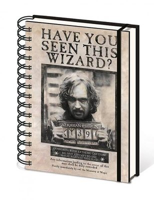 Harry Potter notitieboek A5 - Wanted Sirius Black