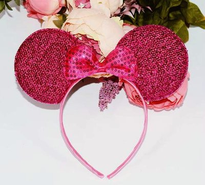 Minnie Mouse roze glitter haarband