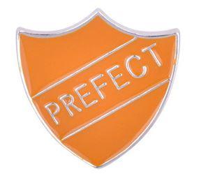 Prefect badge: Hufflepuff