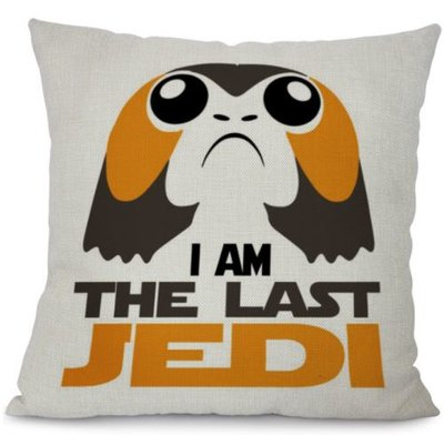Star Wars Porg kussenhoes: I Am The Last Jedi