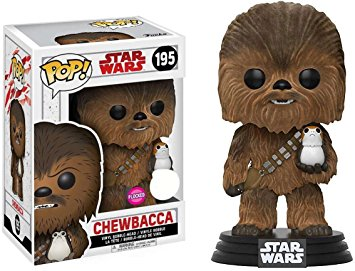 Funko Pop! Star Wars: Chewbacca with Porg [Flocked]