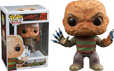 Funko Pop! Freddy Krueger Hatless with Syringe Fingers # 224 [Exclusive]