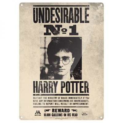 Harry Potter tinnen bord Undesirable No. 1
