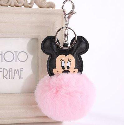 Minnie Mouse pompom sleutelhanger