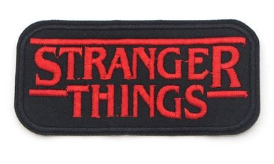 Stranger Things opstrijkbare patch logo