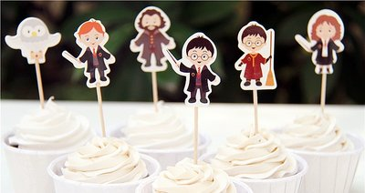 Harry Potter cupcake toppers set