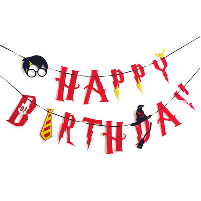 Harry Potter 'Happy Birthday' slinger rood
