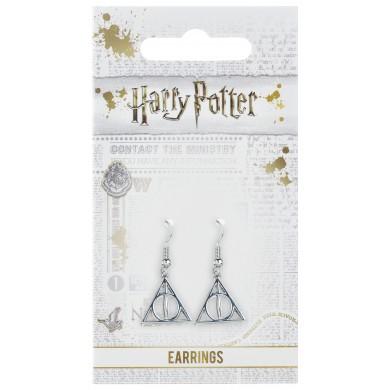 Harry Potter Deathly Hallows oorbellen [verzilverd]