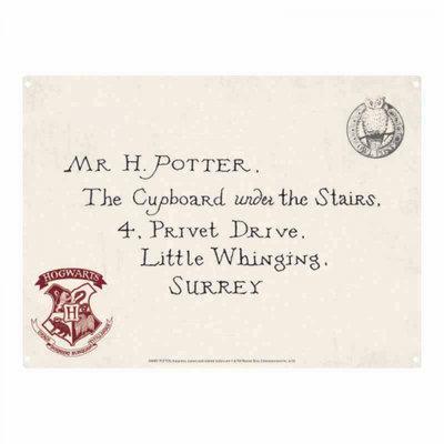 Hogwarts Acceptance Letter A5 tinnen bord
