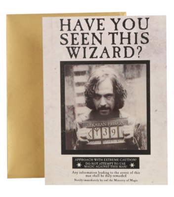 Harry Potter 3D wenskaart - Sirius Black 'Have you seen this wizard'