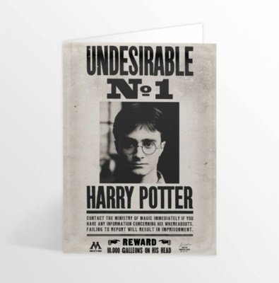 Harry Potter 3D wenskaart - Undesirable No.1