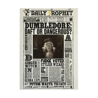 Harry Potter 3D wenskaart -  Dumbledore: Daft or Dangerous?