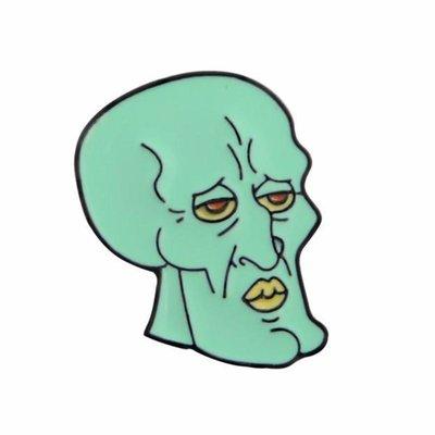 Spongebob pin - 'Handsome Squidward'