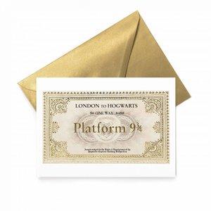 Hogwarts Express ticket wenskaart - filmspullen.nl