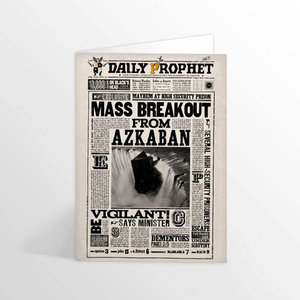 Harry Potter wenskaart ''Mass Breakout From Azkaban'' - Filmspullen.nl