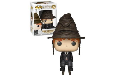 Funko Pop! Harry Potter: Ron with Sorting Hat [Exclusive] - filmspullen.nl