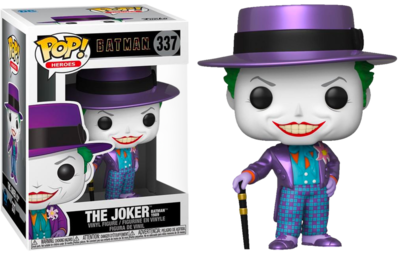 Funko Pop! Batman 1989: Joker with Hat [Metallic] - Filmspullen.nl