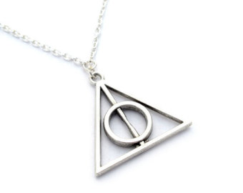 Harry Potter Deathly Hallows ketting zilver - Filmspullen.nl