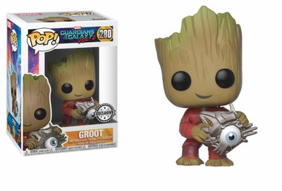 Funko Pop! Marvel: Guardians of the Galaxy 2: Groot wit Cyber Eye [Exclusive] - filmspullen.nl