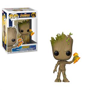 Funko Pop! Marvel's Avengers: Infinity War - Groot with Stormbreaker - filmspullen.nl