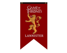 Game of Thrones vlag: Lannister