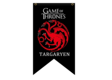 Game of Thrones vlag: Targaryen